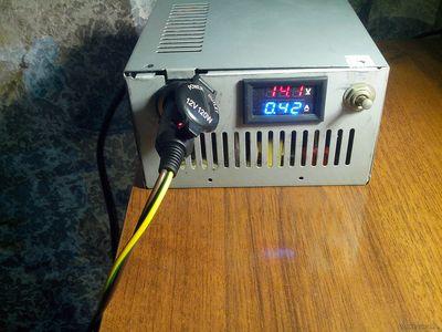 зарядное устройство для АКБ из БП от ПК АТХ